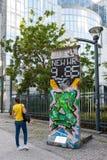 柏林围墙和平在布鲁塞尔,比利时 库存图片