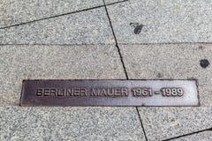 柏林围墙标志德国 图库摄影
