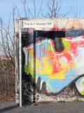 柏林围墙的片段在博恩霍尔姆桥梁的 免版税图库摄影