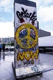 柏林围墙的片段在Potsdamerpaltz在柏林市中心 库存照片