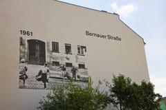 柏林围墙纪念品 Bernauer Strasse 免版税库存图片