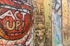 柏林围墙艺术品 免版税库存图片