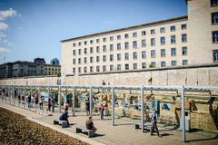 柏林围墙,恐怖,德国地势  图库摄影