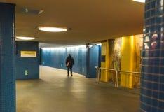 柏林- 2016年10月20日:退出在一个地铁车站外面在柏林 库存照片