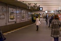 柏林- 2016年10月20日:Klosterstrasse的地铁站乐团人们 免版税库存图片