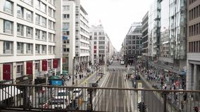 柏林- 8月21 :实时平底锅被射击Friedrichstrasse在柏林 影视素材