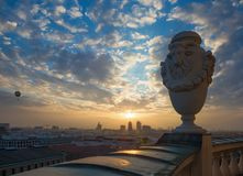 柏林-柏林地平线日落的 库存照片