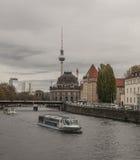 柏林-河视图 免版税库存图片
