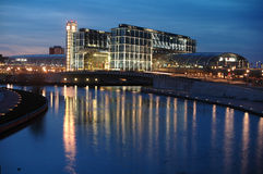 柏林主要火车站 免版税库存图片