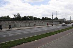 柏林Bernauer strasse著名街道  免版税图库摄影