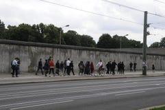 柏林Bernauer strasse著名街道  免版税库存图片