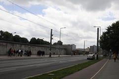 柏林Bernauer strasse著名街道  免版税库存照片