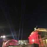 柏林Brandenburger突岩德国 免版税库存图片