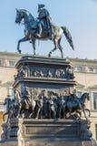 柏林frederick极大的ii雕象 免版税库存图片
