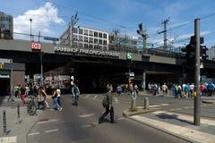 柏林Friedrichstrasse火车站 免版税库存图片