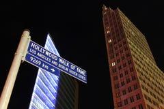 柏林Potsdamer Platz -名望好莱坞结构  免版税库存图片