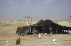 柏柏尔游牧人阵营,摩洛哥 库存照片