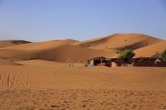 柏柏尔游牧人阵营,摩洛哥 免版税库存图片