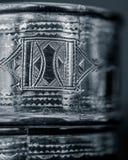 柏柏尔银色刻记的详细的特写镜头 免版税图库摄影