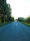 柏油路和夏天风景 库存照片