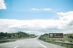 柏油路在葡萄牙 库存图片