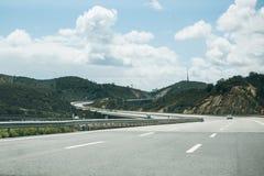 柏油路在葡萄牙 库存照片
