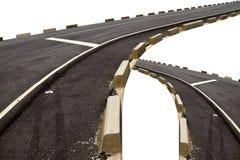 黑柏油路运输和曲线机智摘要两十字架  免版税库存照片