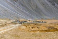 某一北欧海盗村庄废墟  免版税图库摄影
