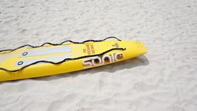 某事在海滩 免版税图库摄影