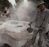 某些的现状石工作者 免版税库存照片