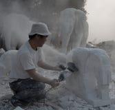某些的现状石工作者 免版税图库摄影