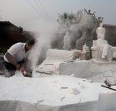 某些的现状石工作者 库存图片