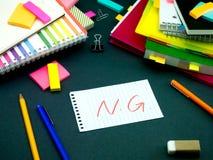 某人在您运转的书桌留下了信息;NG 免版税库存照片
