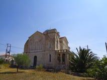 某处一个老房子在希腊 库存图片