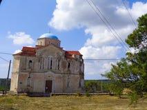 某处一个老房子在希腊 免版税库存照片