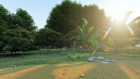 某处公园或森林在亚洲 向量例证