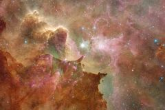 某处星系在外层空间 宇宙秀丽  美国航空航天局装备的这个图象的元素 图库摄影