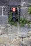 某处红绿灯在法国 免版税库存照片