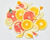 柑桔切片背景, 免版税库存照片