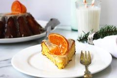 柑桔蛋糕 免版税库存图片