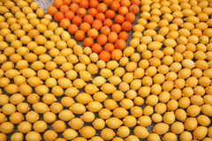 柑橘做马赛克 库存照片