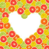 柑橘心脏 库存照片