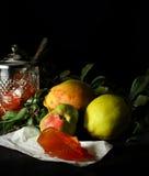 柑橘果子和柑橘果冻 免版税库存照片