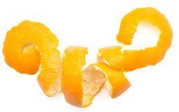 柑橘果皮橙色转弯  图库摄影