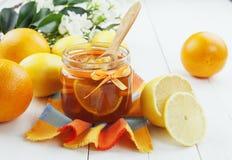 柑橘果酱 免版税库存照片
