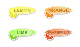 柑橘标签 皇族释放例证