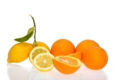 柑橘桔子片式 库存照片