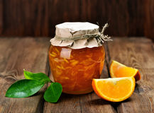 柑橘橙色果酱 免版税库存图片