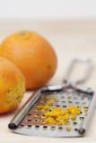 柑橘热心和磨丝器 免版税库存照片