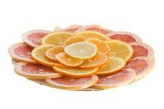 柑橘片式 库存照片